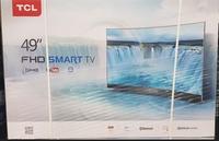 "TCL 49"" 49P3CFS FHD SMART CURVED DVBT2 LED TV"