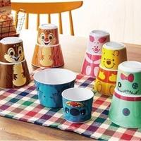 日本迪士尼 2入杯碗組 奇奇 蒂蒂 維尼 小豬 史迪奇 醜丫頭杯子 餐碗