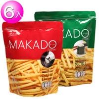 【MAKADO】麥卡多薯條27gx6包/組  (鹽味/海苔味)