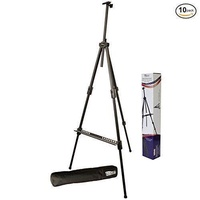 US Art Supply Huntington (Large) 72 Inches Tall Aluminum Tripod Field and Display Easel-Extra Sturdy Premium Metal Construction with Carry Bag (10-Easels) - intl