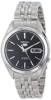 ▶$1 Shop Coupon◀  Seiko 5 Men s SNKL23 Stainless Steel Automatic Casual Watch