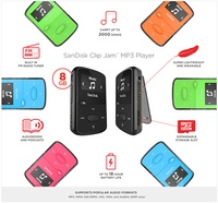 Brand New Original 8GB Sandisk Jam Clip. FM Radio. Mp3 player. Choice of 4 colors. Local SG Stock and warranty !!