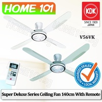 KDK Super Deluxe Series Ceiling Fan 140cm with Remote Control V56VK