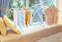 信鼎豐晾衣架落地折疊翼型晾曬室內陽臺飄窗嬰兒簡易曬衣架尿布架DF  都市時尚