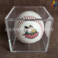 定制棒球展示盒子 透明亞克力棒球盒 亞克力盒 可絲印logo 棒球盒