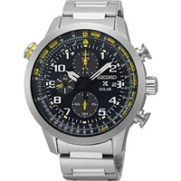 (Seiko) Seiko Men s Prospex Solar Chronograph Watch-SSC369