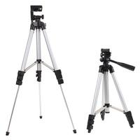 1pcs 4 sections 105cm camera tripod monopod + mobile phone holder tripod mount holder with bag