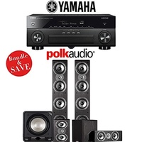 (Polk Audio) Polk Audio TSi 500 5.1-Ch Home Theater Speaker System with Yamaha AVENTAGE RX-A870BL...