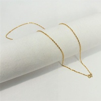 Gold 1314  916 Gold Necklace Chain (22K)   916纯金22K金项链