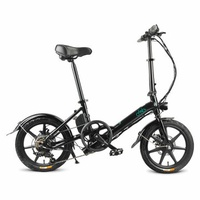 FIIDO D3 Shifting Version 36V 7.8Ah 300W 16 Inches Folding Moped Bicycle 25km/h Max 60KM Mileage Electric Bike