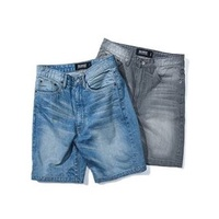 【 K.F.M 】Remix 15 S/S Diary Denim Shorts 水洗刷文牛仔褲短褲
