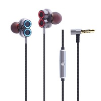 [Dual Dynamic Driver] Caldecott KDK-503 Sweatproof Noise Cancelling Wired Earphone With Mic