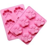 [現貨]可愛貓掌巧克力果凍矽膠模具 製冰盒 (6格)『不挑款』 【JH1050】 《Jami Honey》
