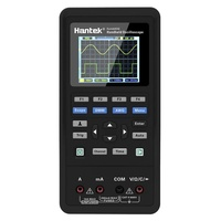 Hantek 2 in 1 Handheld Digital Oscilloscope + Multimeter Dual-channel 2 Channels USB Scopemeter Portable Scope Meter 40MHz Bandwidth 250MSa/s Sample Rate 2C42 TFT LCD Display Test Meter EU Plug