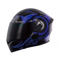 SBK SV DART 黑藍 彩繪 /可樂帽/ 全罩式安全帽 /雙D扣/內襯 /流線型外觀 /加贈鏡片【歐樂免運】