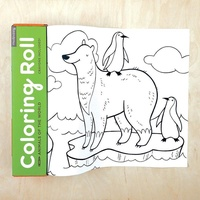 著色繪畫紙捲-動物世界