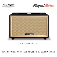 AC Ryan RETRO 2 - FM/BT/AUX Speaker w/EQ Presets