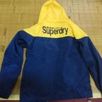 Superdry 輕薄連帽外套 (黃深藍)