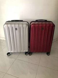 Delsey Vavin luggage red and silver