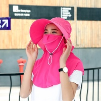 Women Summer Sunscreen Foldable Hat Outdoor Breathable Gardening Cycling Anti-UV Sun Hat