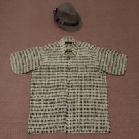 PIERRE CARDIN 皮爾卡登 型男 不規則 格紋印花 短袖襯衫 近全新 40