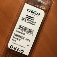 美光 Micron Crucial MX500 1TB 1t M.2 2280 SATA SSD 固態硬碟
