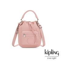 Kipling 氣質輕柔粉色都會多用途水桶手提側背包-VIOLET S