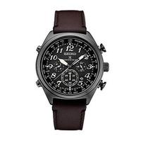 [Seiko] Seiko Men's Prospex Radio Sync Solar Black Leather Strap Watch [From USA] - intl
