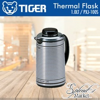 TIGER 1LT Thermal Flask PXJ-100S / Stainless Steel Finish / Open/Close by Slight Turn on the Stopper