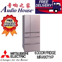 MITSUBISHI MR-WX71Y-P 6 DOOR FRIDGE *** 1 YEAR MITSUBISHI WARRANTY***