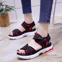 Renoma Women Shoes - Sandals Red Flats Styles Athleisure