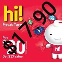 Singtel Prepaid sim card reload top up $20 E Top-Up Free $3.00 BONUS and $11 BONUS for WEEKEND Only