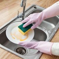 『現貨秒出』橡膠手套 乳膠手套  清潔手套 橡膠手套 家務乳膠洗衣防水手套 現貨