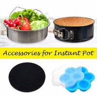 Instant Pot Accessories 4 PACK Silicone Sealing Rings for Instant Pot 5.2-6.8QT