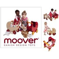 丹麥品牌moover 助步學步遊戲車木質推車木質玩具-學步車-手推車-滑步車