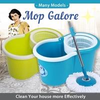 Mop Galore / Spin Mop / Mop Bucket Set / Dual Spin Mop / Floor Cleaning Mop