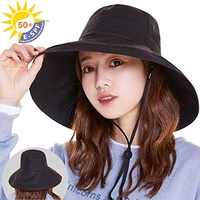 AMICOO UV cut hat ladies hat [UPF50 + 100% UV cut wire added] summer actress hat sun protection heat