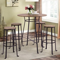 TREXM Bar Stools Dining Room Chairs Bar Height Wooden Chair