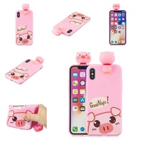 For VIVO Y71 3D Cartoon Lovely Coloured Painted Soft TPU Back Cover Non-slip Shockproof Full Protective Case