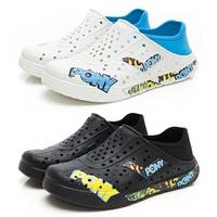 《2019新款》Shoestw【93U1SA02BK】【93U1SA02RW】PONY Enjoy 洞洞鞋 水鞋 海灘鞋 可踩跟 懶人拖 男女都有 塗鴉系列