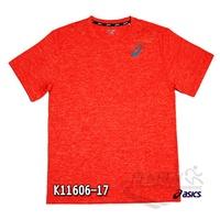 亞瑟士 ASICS 男女短袖T恤 (橘) 抗UV透氣T恤 K11606-17【 胖媛的店 】