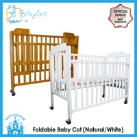BabyOne Foldable Baby Cot FREE 4 inch Foam Mattress *Free Assembly + Free Delivery*