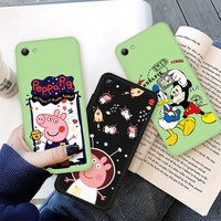 Cute Cartoon Case For OPPO R7S R9S R11 R11S F1 F3 Plus R15 R17 Pro Mickey Mouse Painted Soft Cover