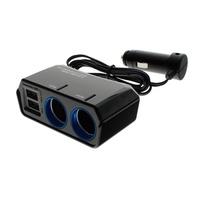 【YAC】4.8A雙USB槽+雙孔延長插座PZ-791(車充 點煙器 轉換)