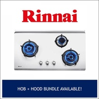 RINNAI RB-93US 3 BURNER HYPER FLAME STAINLESS STEEL BUILT-IN HOB