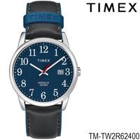 Timex TM-TW2R62400 นาฬิกาข้อมือผู้ชายและผู้หญิง สายหนัง สีดำ