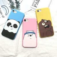 [FREE DELIVERY] We Bare Bears Soft Silicone Case For iPhone