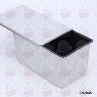 三能器具 波紋不沾吐司盒(含蓋) 12兩=450g 長方型土司盒/吐司模/麵包模SN2045 長方形吐司蛋糕模 水果條