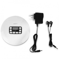 LCD Portable AUX CD Player + Headphone for MP3/CD/CD-R/CD-RW Disk White (US Plug)