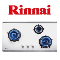 RINNAI RB-93US 3 BURNER STAINLESS STEEL HYPER FLAME BUILT-IN HOB